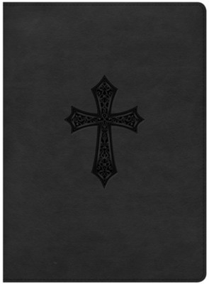 HCSB Gospel Project Bible, Black Cross Design LeatherTouch  -