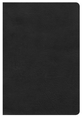 HCSB Giant Print Reference Bible, Black LeatherTouch  -