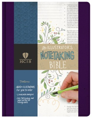 HCSB Illustrator's Notetaking Bible--clothbound hardcover, purple  -