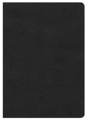 HCSB Large Print Compact Bible, Black LeatherTouch  -
