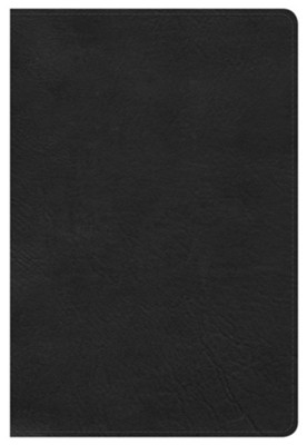 HCSB Large Print Personal Size Bible, Black LeatherTouch, Thumb-Indexed  -
