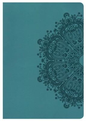 HCSB Super Giant Print Reference Bible, Teal LeatherTouch, Thumb-Indexed  -