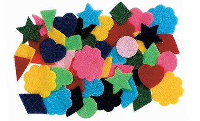 Felt Shapes Package of 500   -