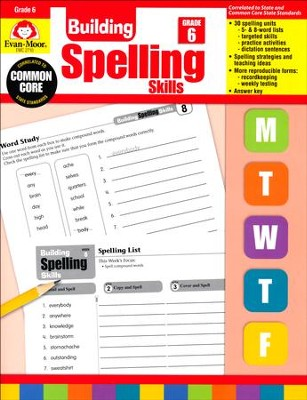 Building Spelling Skills, Grade 6+ Reproducible Teacher's Edition  -