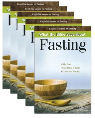 What the Bible Says About Fasting, Pamphlet - 5 Pack   -