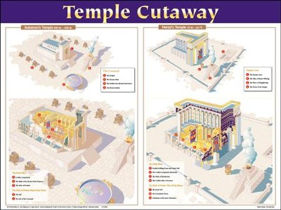 Temple Cutaway - laminated wall chart  -