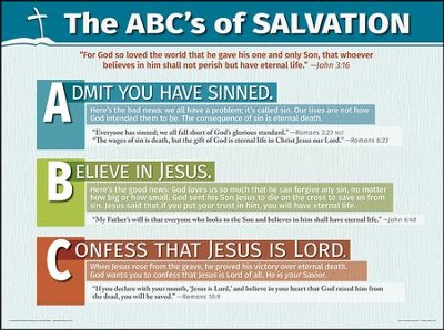 photograph relating to Abc of Salvation Printable named ABCs of Salvation - Wall Chart