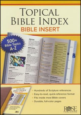 Topical Bible Index: Bible Insert - PDF Download [Download]