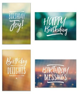 Birthday, Simply Stated Cards, Box of 12  -