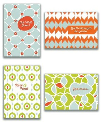 Get Well, Patterns Cards, Box of 12  -