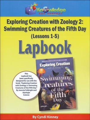 Apologia Exploring Creation with Zoology 2: Swimming  Creatures of the 5th Day Lessons 1-5 Lapbook  -