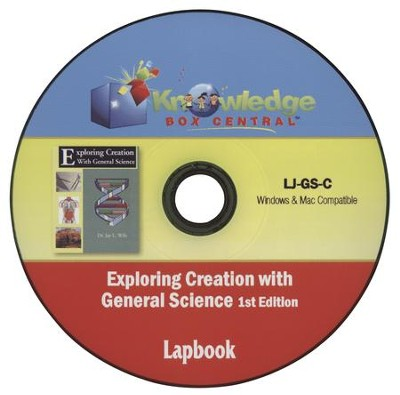 Apologia Exploring Creation with General Science 1st Edition Lapbook Journal PDF CD-ROM   -