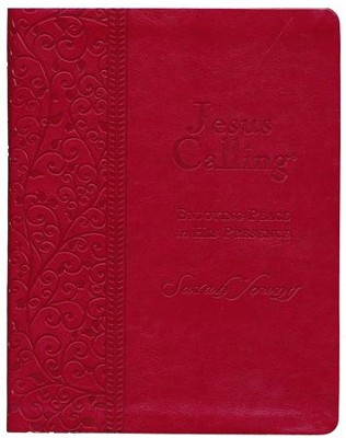 Jesus Calling, Large-Print Deluxe Edition--imitation         leather  -     By: Sarah Young