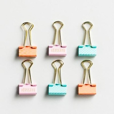 Binder Clips, Set of 6  -