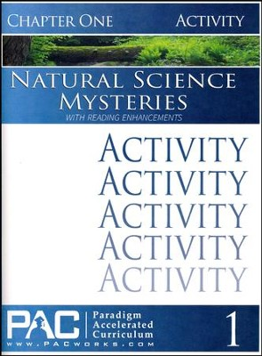 Natural Science Mysteries Activities Booklet, Chapter 1   -