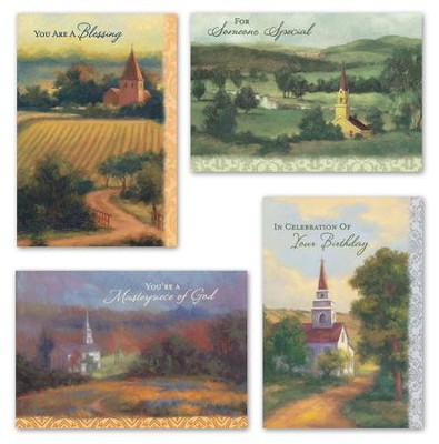 Faithful Blessings Birthday Cards, Box of 12  -