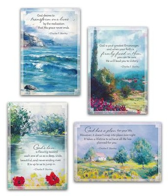 Encouragement, Charles Stanley Cards, Box of 12  -     By: Charles Stanley