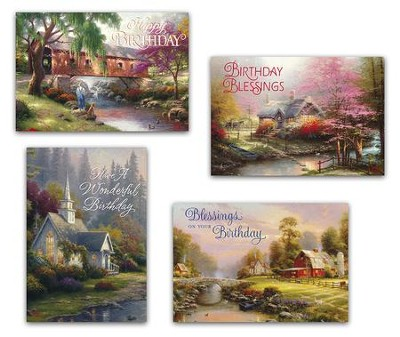 Birthday Cards Thomas Kinkade Box Of 12 Christianbook