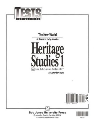 BJU Heritage Studies Grade 1, Tests    -