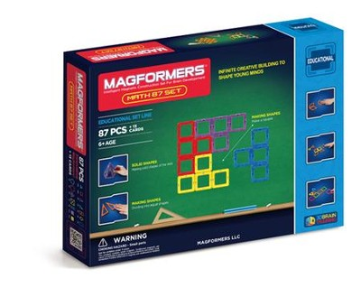 Magformers, Math Set, 87 pieces  -