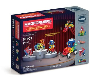 Magformers Power Sound, 59 Piece Set  -