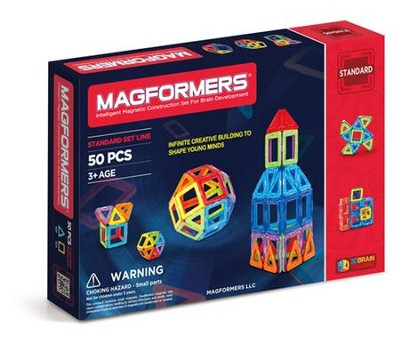Magformers, Rainbow Set, 50 pieces  -