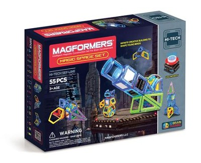 Magformers, Magic Space Set, 55 pieces  -