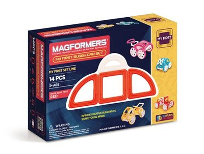 Magformers, My First Buggy Set,14 pieces, Red  -