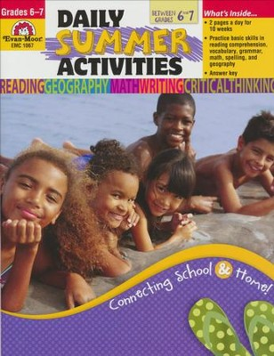 Daily Summer Activities, Moving from 6th to 7th Grade   -