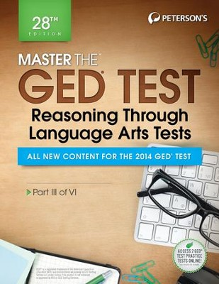Master the GED Test: Reasoning Through Language Arts Tests: Part III of VI - eBook  -