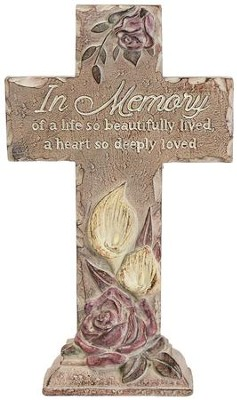 In Memory Of A Live So Beautifully Lived Pedestal Cross  -