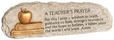A Teachers' Prayer--Cast-Resin Plaque   -