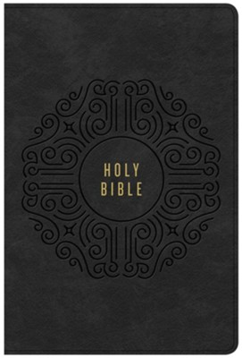 KJV Creedal Bible, Black LeatherTouch  -