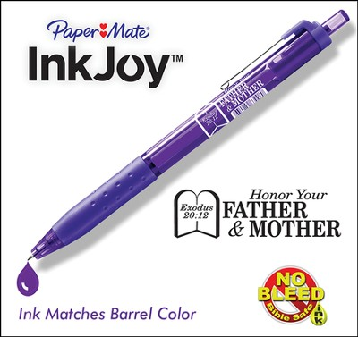 Inkjoy Pen, Mother and Father, Violet  -
