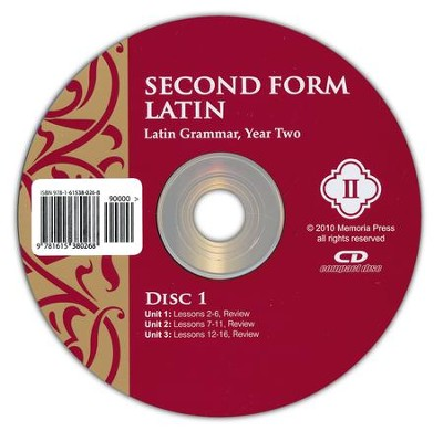 Second Form Latin, Pronunciation CD   -     By: Cheryl Lowe