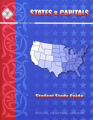 States and Capitals, Student Workbook   -