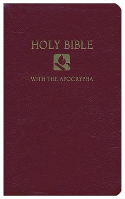 NRSV Gift & Award Bible with Apocrypha, Imitation leather, Burgundy  -