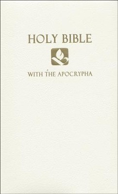 NRSV Gift & Award Bible with Apocrypha, Imitation leather, White   -