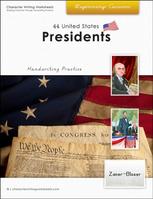 44 United States Presidents: Beginning Cursive, Zaner-Bloser Edition  -     By: Holly Shaw, Wendy Shaw