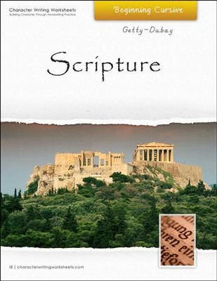 Scripture: Beginning Cursive, Getty-Dubay Edition   -     By: Wendy Shaw, Holly Shaw