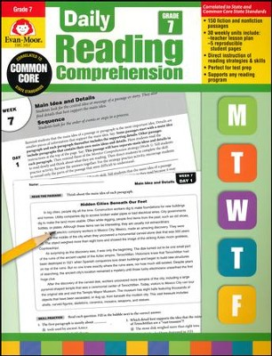 Daily Reading Comprehension, Grade 7   -