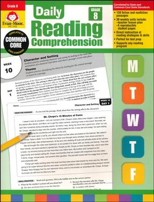 Daily Reading Comprehension, Grade 8   -