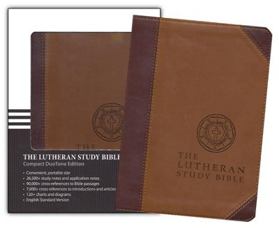 ESV Lutheran Study Bible - Compact DuoTone, Brown  -     By: Edward Engelbreght