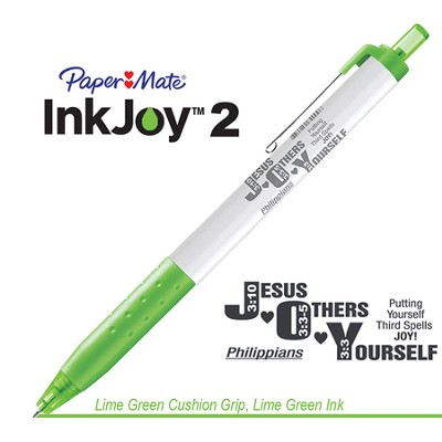Jesus Others Yourself Pen, Lime Green  -