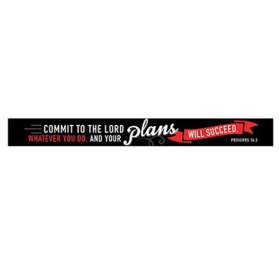 I Know the Plans, Black and Red Magnetic Strip   -