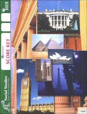 4th Edition Social Studies Score Key 1018, Grade 2   -