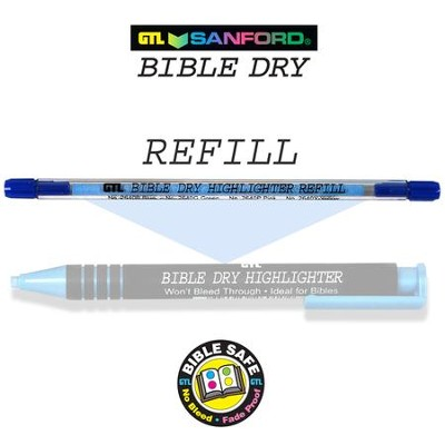 Refill for Blue Dry Bible Highlighter 60102X   -
