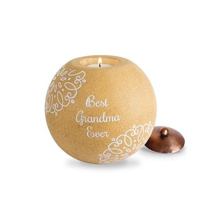 Best Grandma Ever Round Candle Holder  -