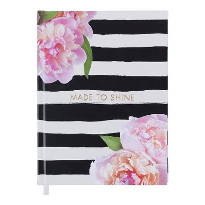 Made To Shine Journal, Black and White Stripes  -