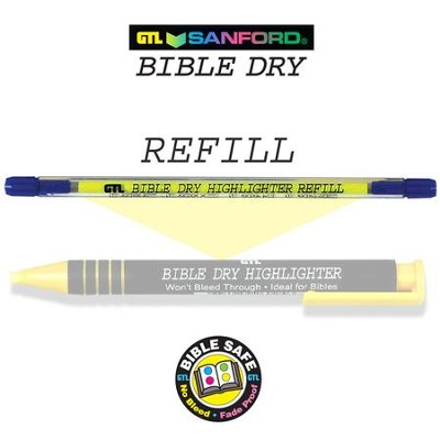 Refill for Yellow Dry Bible Highlighter 60256X   -